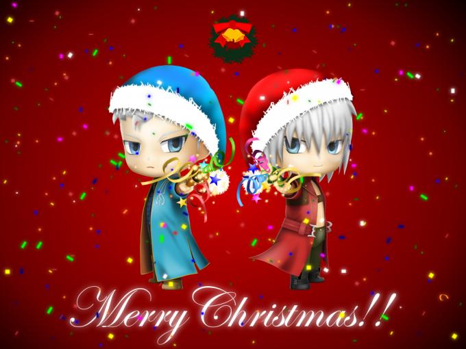 ねんどろいど風DMC3ダンテ&バージル クリスマスバージョン2