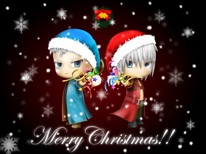 ねんどろいど風DMC3ダンテ&バージル クリスマスバージョン