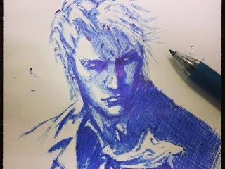 青ボールペンで描いたDMC1バージル