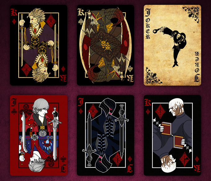 DEVIL MAY CRY PLAYING CARDS EXTRA CARDS2 デビルメイクライトランプ エクストラ カード2