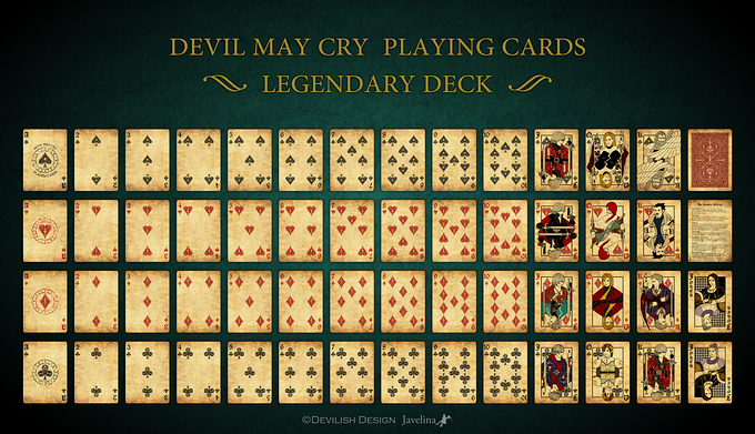 DEVIL MAY CRY PLAYING CARDS LEGENDARY DECK デビルメイクライトランプ レジェンダリーデッキ