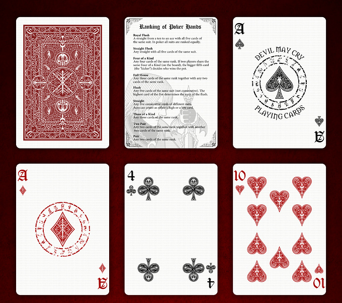 DEVIL MAY CRY PLAYING CARDS STANDARD DECK cards1 デビルメイクライトランプ スタンダードデッキ カード1