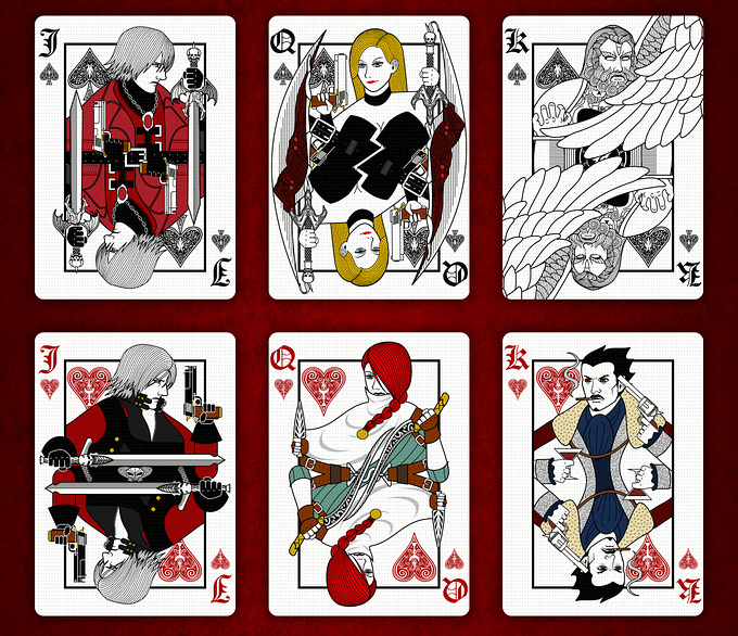 DEVIL MAY CRY PLAYING CARDS STANDARD DECK cards2 デビルメイクライトランプ スタンダードデッキ カード2