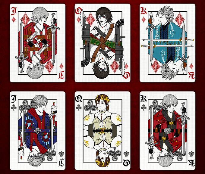 DEVIL MAY CRY PLAYING CARDS STANDARD DECK cards3 デビルメイクライトランプ スタンダードデッキ カード3