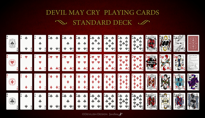 DEVIL MAY CRY PLAYING CARDS STANDARD DECK デビルメイクライトランプ スタンダードデッキ