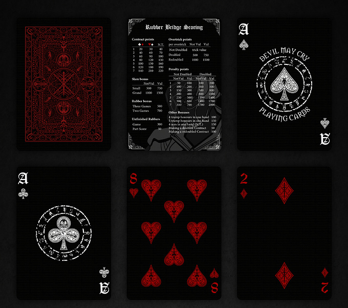 DEVIL MAY CRY PLAYING CARDS VILLAIN DECK cards1 デビルメイクライトランプ ヴィランデッキ カード1