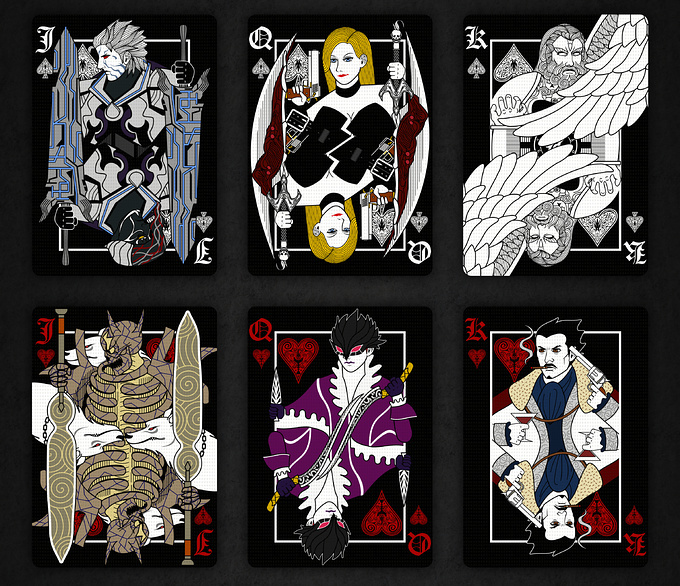 DEVIL MAY CRY PLAYING CARDS VILLAIN DECK cards2 デビルメイクライトランプ ヴィランデッキ カード2