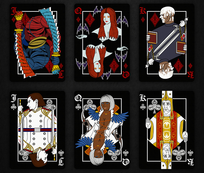 DEVIL MAY CRY PLAYING CARDS VILLAIN DECK cards3 デビルメイクライトランプ ヴィランデッキ カード3