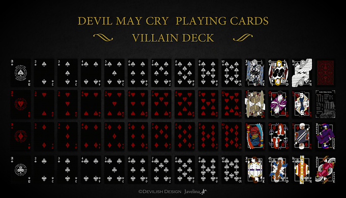 DEVIL MAY CRY PLAYING CARDS VILLAIN DECK デビルメイクライトランプ ヴィランデッキ