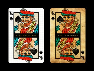 KING OF BLENDERS PLAYING CARD